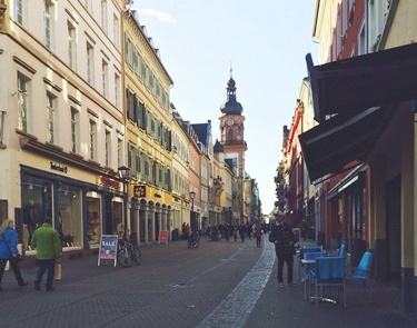 落ち着いたドイツらしい街並み